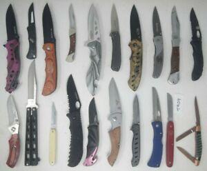 Bulk Lot 20 Pocket Knife SOG Victorinox Kershaw Gerber Browning Schrade Henry