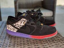Nike SB BHM Dunk Low QS Premium Size 9.5 Black/Purple Venom VNDS Quickstrike