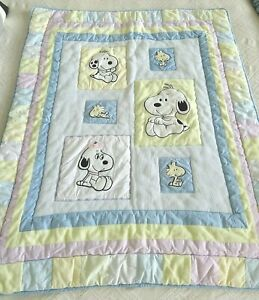 """My Little Snoopy Baby Quilt/Wall Hanging Lambs Ivy 41"""" x 34"""""""