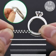 Ring Size Adjuster 12 Pack 6 Sizes 2mm to 10mm Jewelry Guard Sizer Comfortable