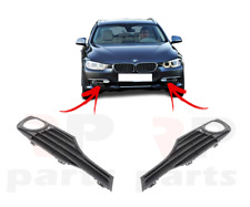 FOR BMW 3 F30 F31 LUXURY LINE 11-16 FRONT BUMPER FOG LIGHT CLOSED GRILLE PAIR