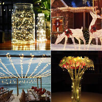 20M 200LEDs Solar String Fairy Lights Outdoor Xmas Wedding Party Garden Decor UK