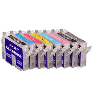 8x Refillable T0341-T0348 Empty Ink Cartridge for Epson Stylus Photo 2100 2200