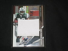 SHONN GREENE JETS AUTHENTIC AUTOGRAPHED EVENT WORN JERSEY & FOOTBALL CARD 8/10
