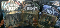 Kiss Psycho Circus Action Figures; Gene Simmons, Ace Frehley, Paul Stanley