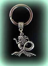 Mermaid Keychain - Nude Sea Nymph Jewelry Antique Art Nouveau Victorian Style