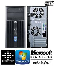 hp Tower 6200/8200 Windows 7 Pro I5 Quad Core 3.4GHz 4GB DVD/RW WiFi