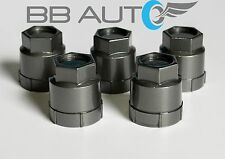 5 NEW DARK GREY LUG NUT COVERS CAPS CHEVROLET GMC BUICK OLDSMOBILE PONTIAC