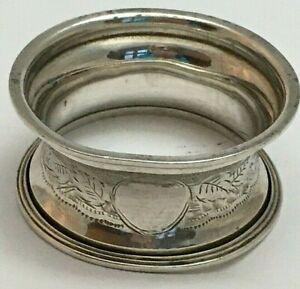 Antique George V Sterling Silver Serviette Napkin Ring 1916