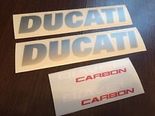 DUCATI DIAVEL CARBON decals stickers graphics logo set kit silver white red