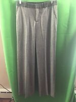 8528) BANANA REPUBLIC sz 2 winter wool dress pants gray trouser lined mid rise 2
