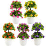 JW_ Charm Potted Artificial Flower Dual-Layer Bonsai Stage Garden Party Decor