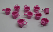 Lego 10 Rucksäcke Tornister Behälter pink für zb Star Wars, Ritter Figuren - Neu