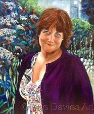 """Pete Davies original """"en el bosque Walk"""" niña mujer Arte Moderno Pintura al óleo"""