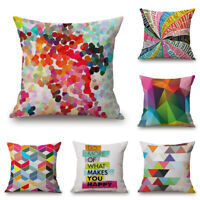 Comfort 18inch Cotton Linen Abstract Pillow Case Throw Cushion Cover Home Decor