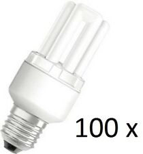 100x Osram Dulux Star Superstar 8W/825 220-240V E27 Stick Lamp Light Bulb