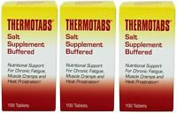 3 Pack Thermotabs Salt Supplement Buffered Tablets 100 ea