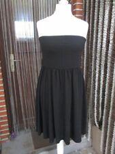 Schulterfreies Shirtkleid 42 44 M L sexy Jersey Kleid Rock Viskose-Misch.Schwarz