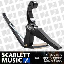 Kyser KG-6B 6-String Quick-Change Capo for Acoustic Guitars - Black