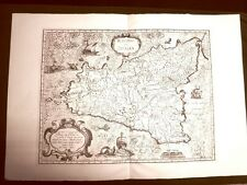 Isola o Regno di Sicilia Antonio Magini o Maginus Atlante d'Italia 1620 Ristampa
