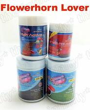 Flowerhorn Cichlids Fish Food Mineral Vitamin Red Head Up Shape Pellets Powder
