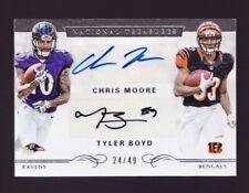 Tyler Boyd Chris Moore Rookie Autograph /49 2016 Panini National Treasures Auto