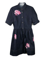 Kate Spade Women's Floral Denim Shirtdress Jean Dress Sz 6 New