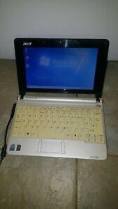 "Acer Aspire One ZG5 AOA150 White Netbook 8.9"" 1GB 120GB Windows 7 Office Wi-Fi"