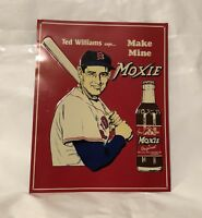 Ted Williams Make Mine Moxie Red Sox Baseball MLB Retro Vintage Metal Tin Sign