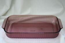 Pyrex #233-S Cranberry Vision 3 Qt Rectangular Baking/Casserole Dish with Ridges