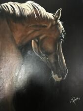 Hand Oil Painted On Canvas Horse By Pam