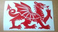 X2 L+R fit wales welsh dragon vinyl car stickers door wall art  grahpics decals
