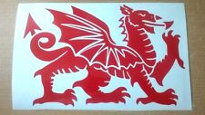 X2 L+R fit wales welsh dragon vinyl car stickers door wall art  grahpics decals