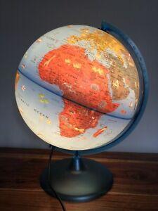 Very Large Tecnodidattica Childs Illuminated Light Up World Globe Fully Working