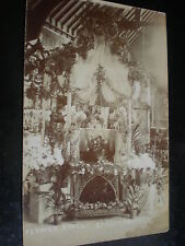 Old postcard flower stall Eagley Cricket club c1900s