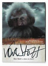 2015 The Hobbit Desolation of Smaug Autograph Ken Stott as Balin