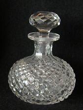 ANTIQUE VICTORIAN EDWARDIAN HAND CUT GLASS SCENT / PERFUME BOTTLE ENGLISH