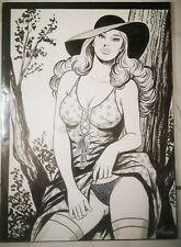"Grand Dessin original Balzano  ""Zara La Vampire"" - Format 25 x 35 cm"