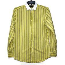 Ralph Lauren Boy 16 Striped Long Sleeve Button Down Shirt Yellow Tailored Fit