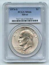 1974 S $1 Silver Ike Eisenhower Dollar PCGS MS66