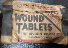 Sealed Upjohn Wound Tablets WWII Excellent Condition