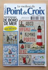 livre  LE MEILLEUR DU POINT DE CROIX N° 4 - SPECIAL PAYSAGES DE BORD DE MER