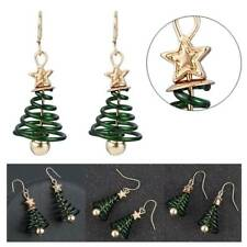 Charm Women Star Christmas Tree Earrings Dangle Hook Ear Drop Green Ornaments