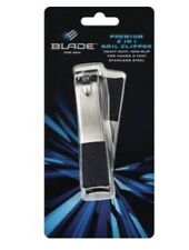 Blade For Men Premium 2-in-1 Nail Clipper ~ Heavy Duty Stainless Steel Clippers