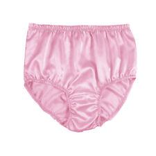 STP05 Fair Pink New Satin BRIEFS KNICKERS PANTIES Lingerie Underwear Women Men