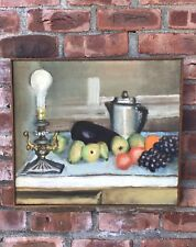 C1950's Woodstock New York Still Life With Fruit Painting Signed Joseph Pollet