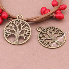 20pc retro bronze tree of Life Pendant Charm Beads accessories wholesale JP313