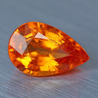 2.05 Cts Mandarin_Fanta Orange_ Spessartite Garnet 100% Natural Pear @ See Video