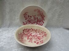 Pair of Vintage Johnson Brothers Windsor Ware Apple Blossom Vegetable Bowls