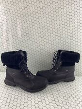 UGG Adirondack III Black Waterproof Fur Lined Lace Up Snow Boots Women's Size 13